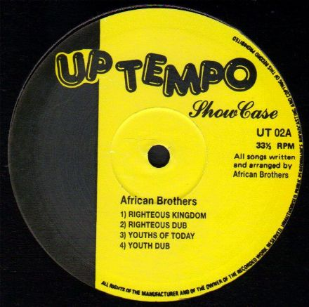 African Brothers - Uptempo Showcase (Uptempo) UK 10""